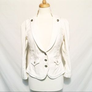WHBM White Cropped Jacket